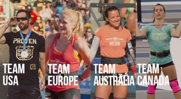 4 teams van de crossfit invitational