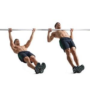 voorbeeld van een horizontale pull up