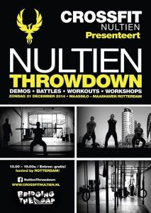 flyer van de nultien throwdown 2014