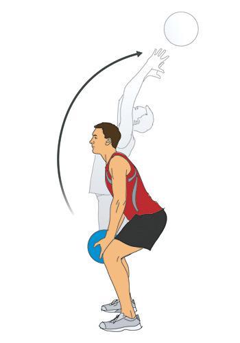medicine ball pull